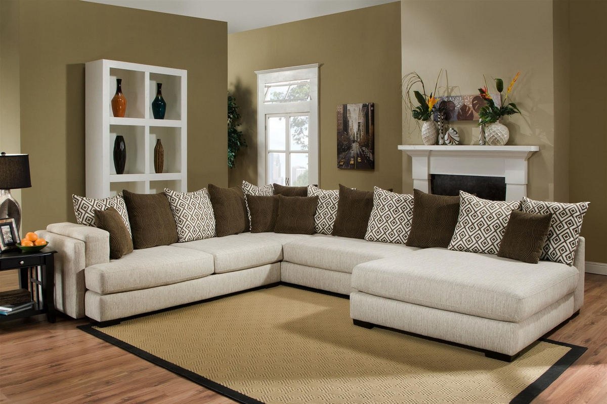 Chelsea Home Irene Sectional Almond Credo