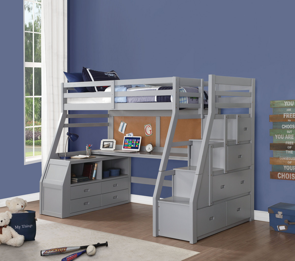Acme Furniture Bed Storage Ladder Photo