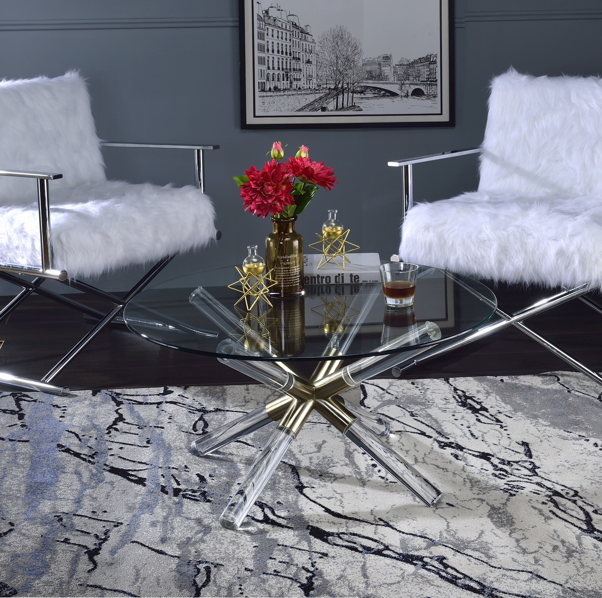 Furniture | Acrylic | Coffee | Clear | Glass | Table