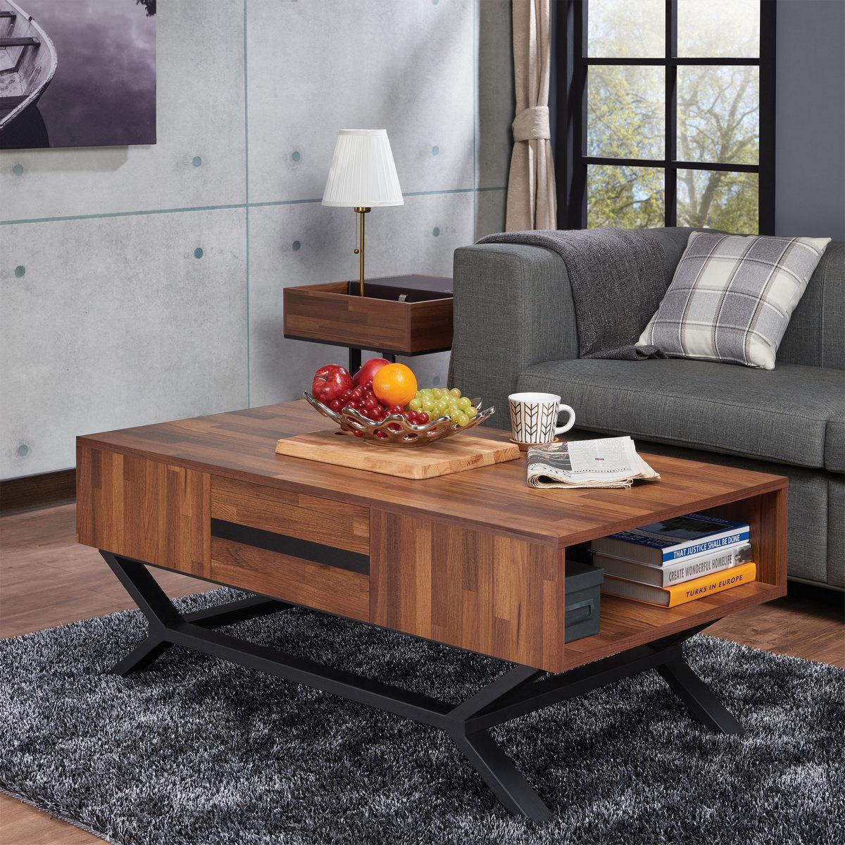 Furniture | Walnut | Coffee | Table | Black