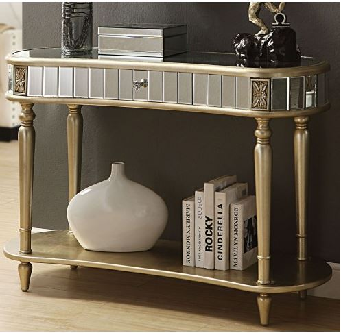 Acme Kaya Console Table Champagne