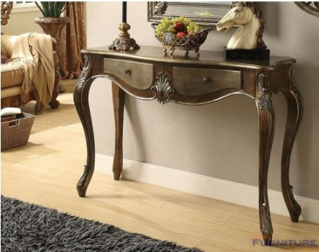 Acme Kelsey Console Table Bronze Taupe