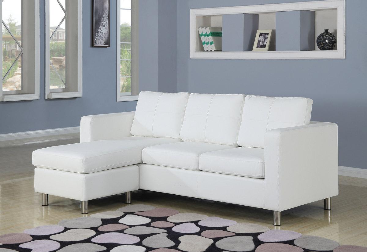 Acme Kemen Sectional Sofa Rev Chaise White Pu
