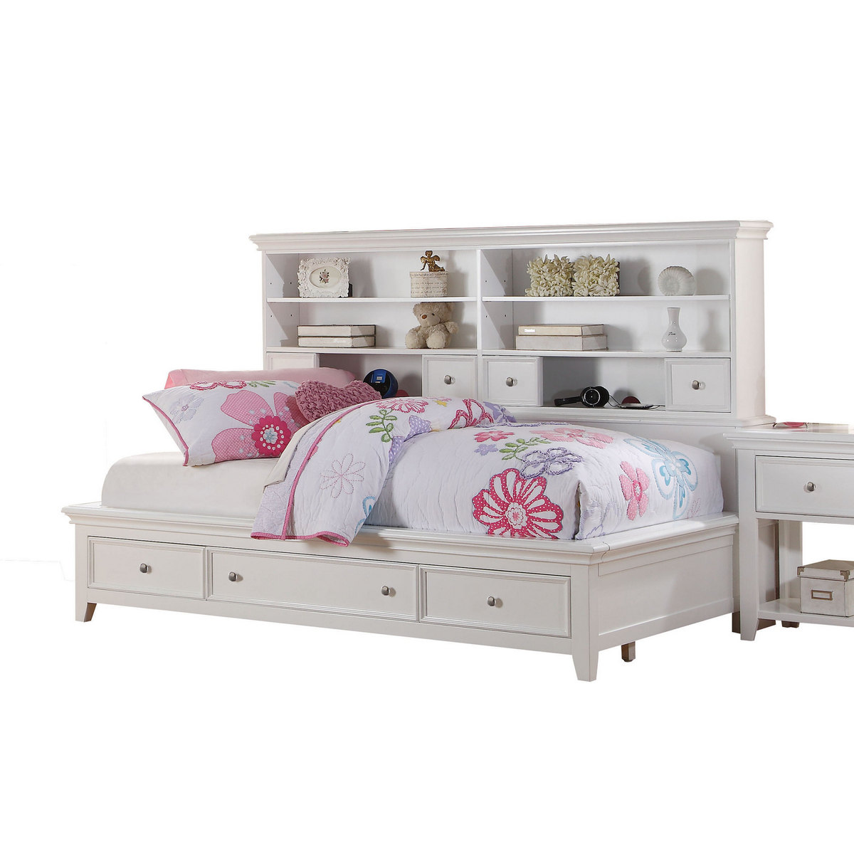 Acme Daybed Storage Full White