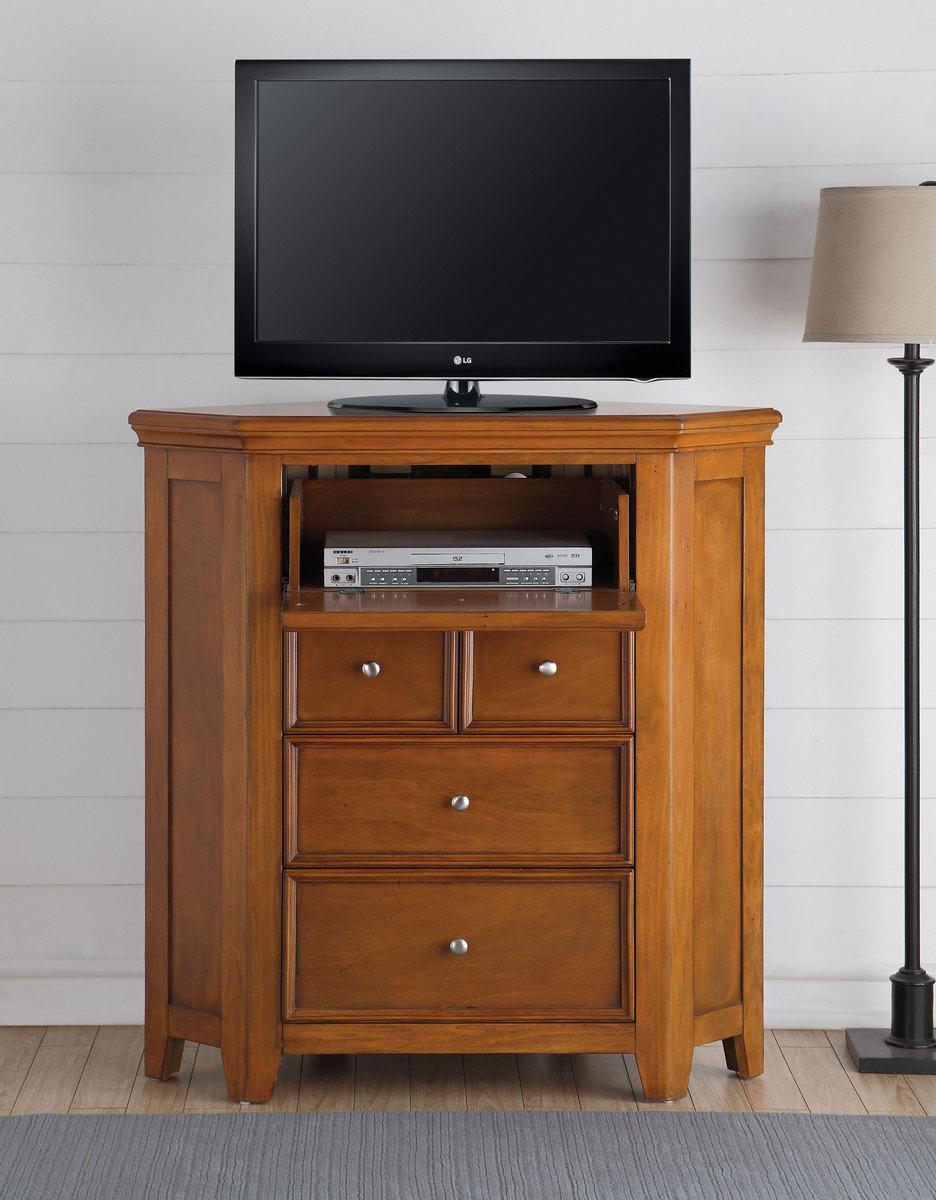 Acme Tv Console Corner Cherry Oak