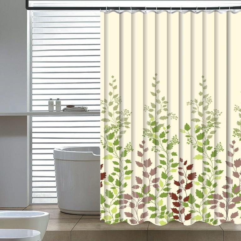 Leaf Vine Shower Curtain - Elegant Home Fashions SC-2714-6