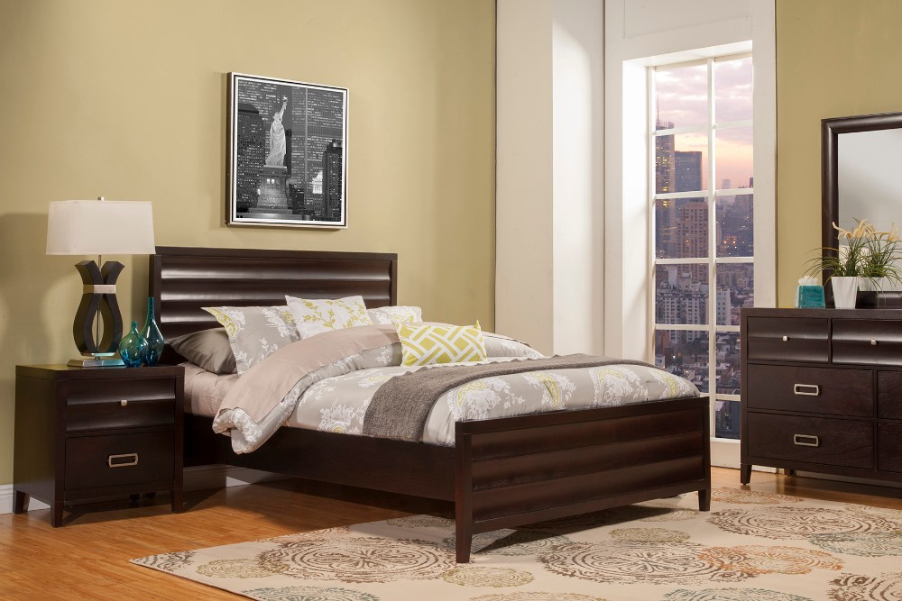 Legacy Queen Panel Bed - Alpine Furniture 1788-01Q