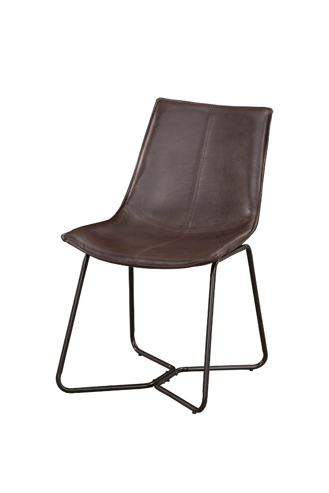 Live Edge Bonded Leather Side Chairs (Set of 2) - Alpine Furniture 1968-03