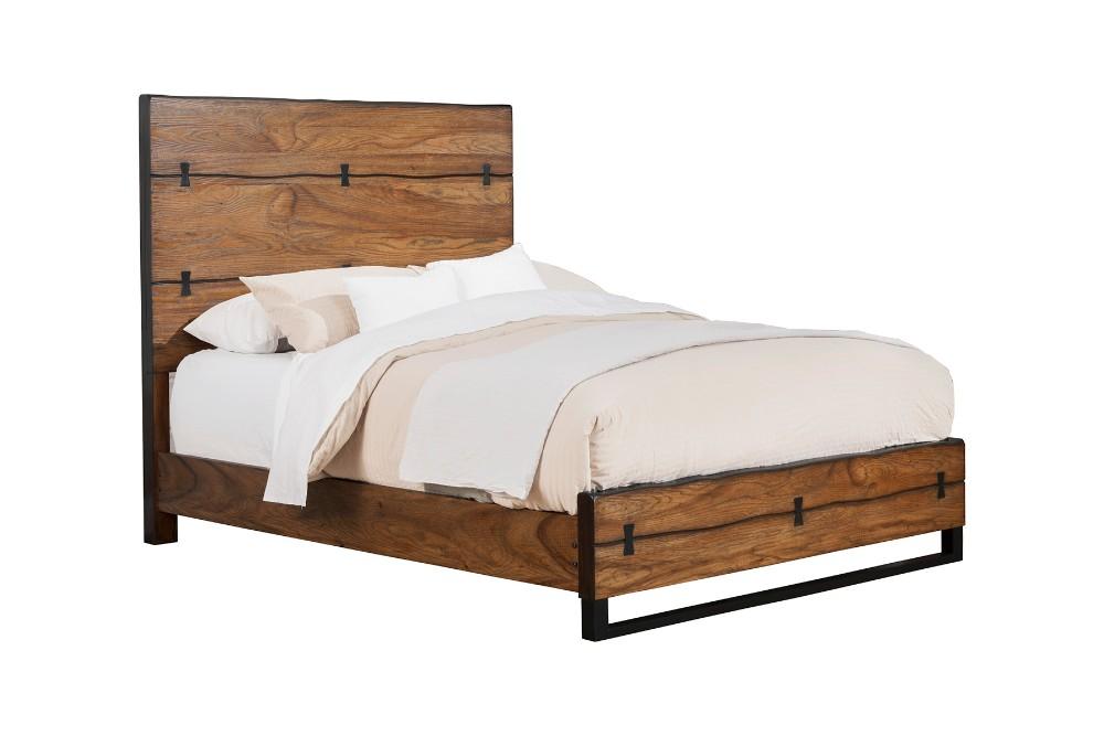 Alpine Live Edge California King Panel Bed