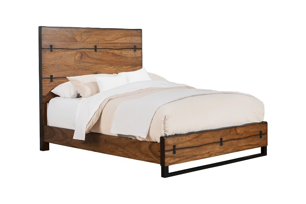 Live Edge Queen Panel Bed - Alpine Furniture 5200-01Q
