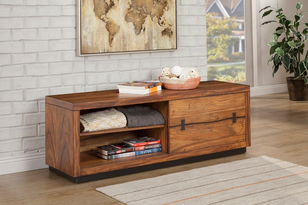 Alpine Tv Console Cabinet Bench