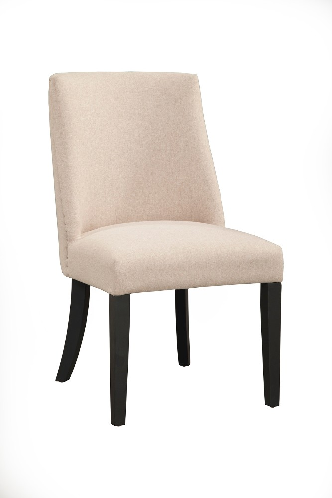 Live Edge Upholstered Parson Chairs (Set of 2) - Alpine Furniture 1968-02