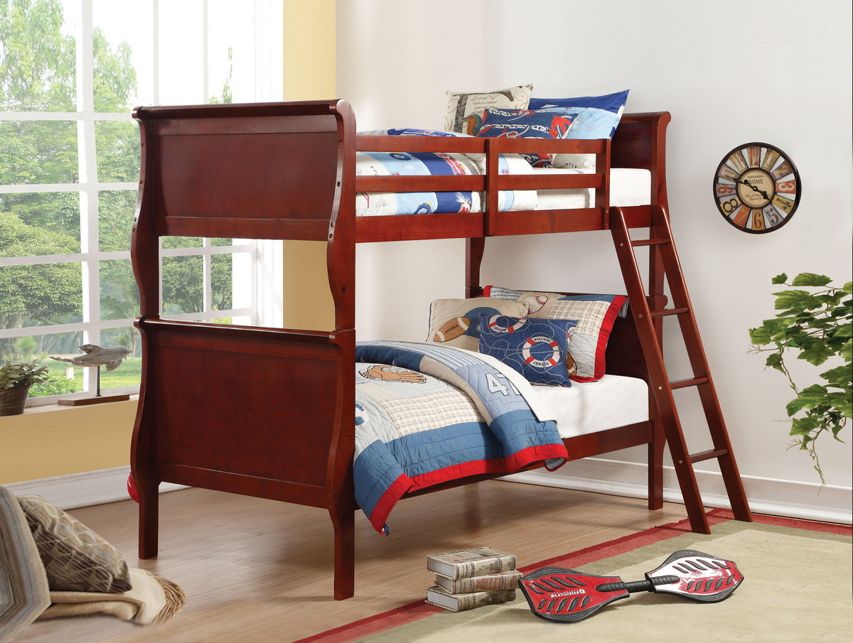 Fantastic Louis Philippe Twintwin Bunk Bed In Cherry Acme Furniture 37615 Pdpeps Interior Chair Design Pdpepsorg