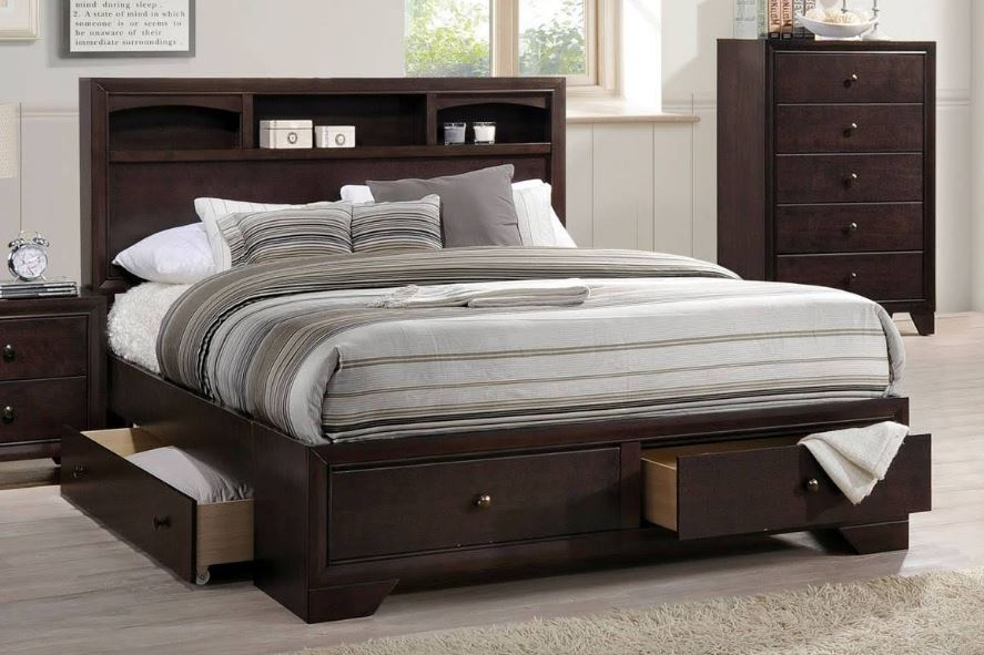 Acme Eastern King Bed Storage Espresso