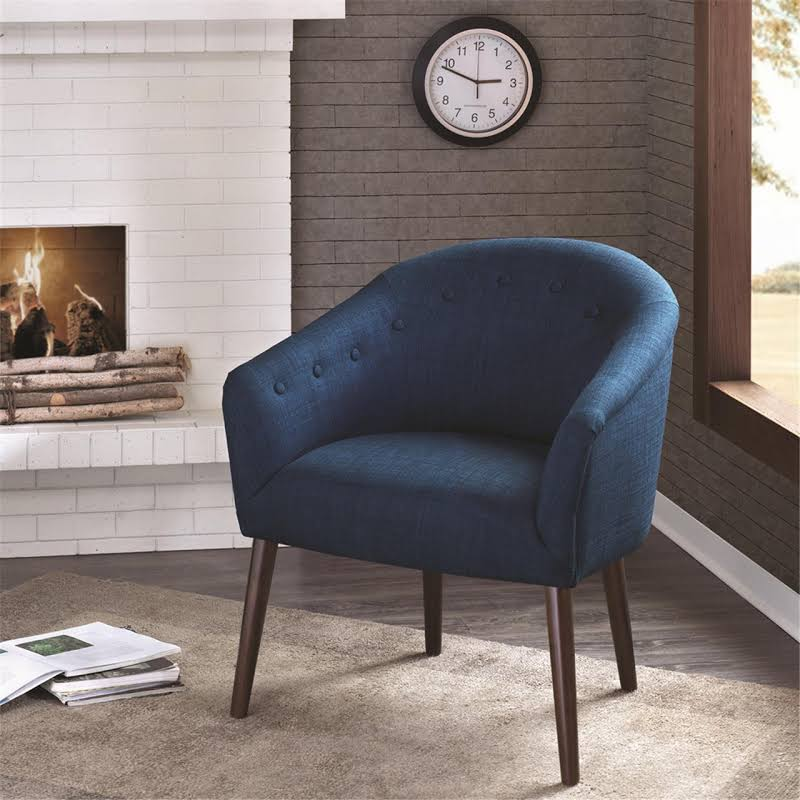 Accent   Chair   Park   Back   Navy