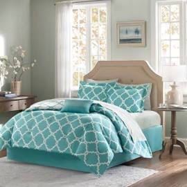 Reversible | Comforter | Cotton | Sheet | Aqua | Park | Twin | Set