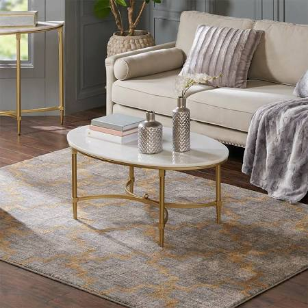 Madison Park Bordeaux Coffee Table White Gold