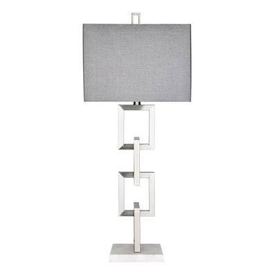 Hampton Hill Boulevard Table Lamp in Silver - Olliix MPS153-0059