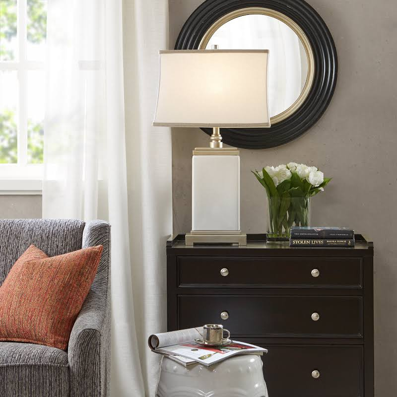 Hampton Hill Colette Table Lamp in Ivory - Olliix MPS153-0025