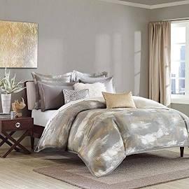 Madison Park Graphix King Jacquard Comforter Set Grey