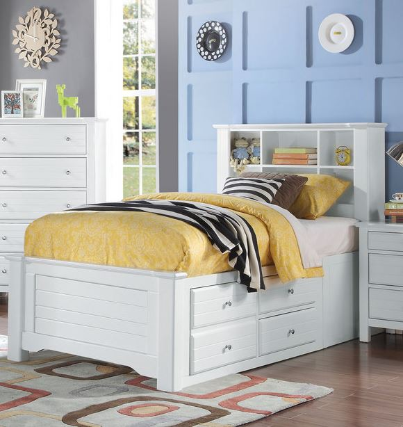 Acme Mallowsea Twin Bed Storage Rail White