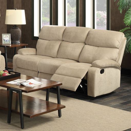 Acme Mayborn Sofa Motion Sand Velvet