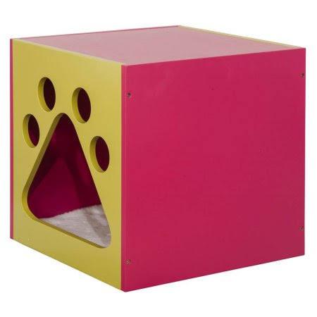 Mellow Green & Fuchsia Cat Cuddle box - Elegant Home Fashions PET-986