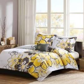 Mi Zone Allison Full/Queen Comforter Set in Yellow - Olliix MZ10-075