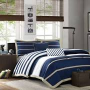 Mi Zone Ashton Full/Queen Comforter Set in Navy - Olliix MZ10-085