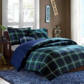 Mi Zone Brody Full/Queen Comforter Set in Blue - Olliix MZ10-099