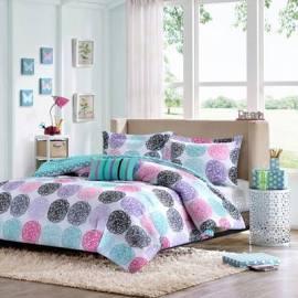 Mi Zone Carly Twin/Twin XL Comforter Set in Purple - Olliix MZ10-229