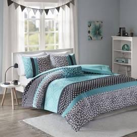 Mi Zone Chloe Full/Queen Comforter Set in Teal - Olliix MZ10-226