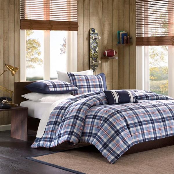 Mi Zone Elliot Full/Queen Comforter Set in Blue - Olliix MZ10-047