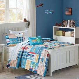Mi Zone Kids Choo Choo Charlie Twin Complete Bed & Sheet Set in Blue - Olliix MZK10-118