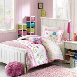 Mi Zone Kids Spring Bloom Full/Queen Comforter Set in Multi - Olliix MZK10-004
