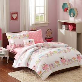 Mi Zone Kids Wise Wendy Full Complete Bed & Sheet Set in Pink - Olliix MZK10-086