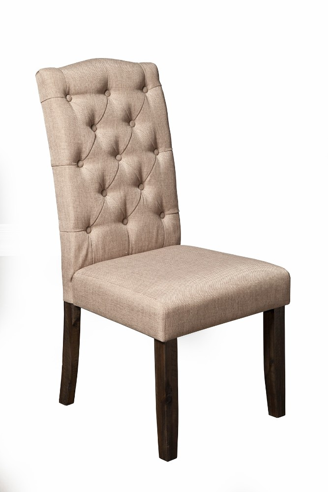 Newberry Button Tufted Parson Chairs (Set of 2) - Alpine Furniture 1468-23