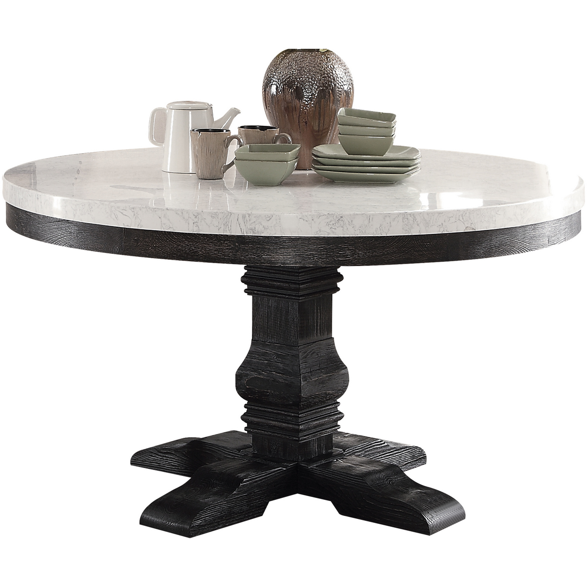 Acme Furniture Dining Table Pedestal Photo