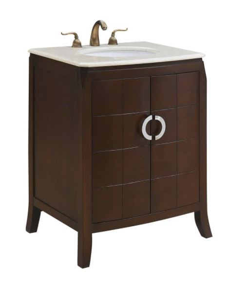Elegant Lighting Nouveau Single Bathroom Vanity Set Brown