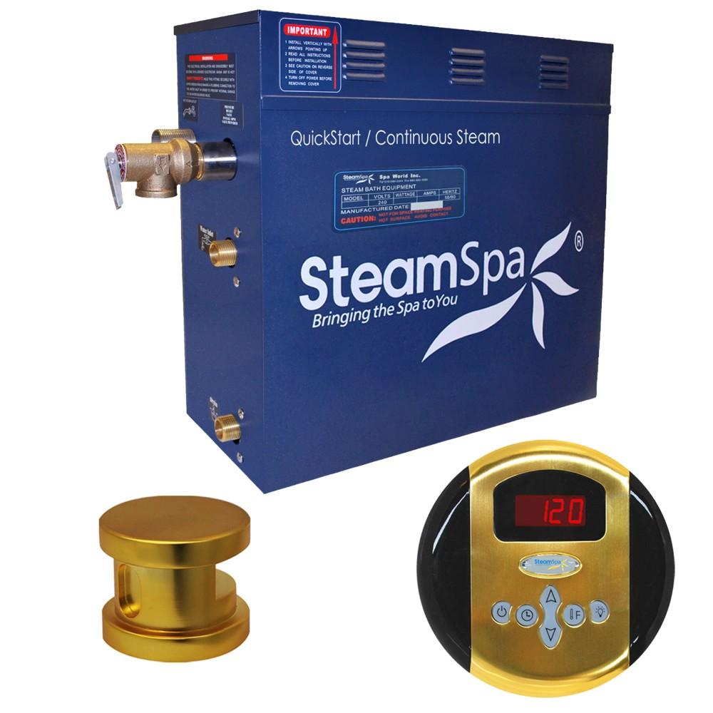 Steamspa Steam Bath Generator Package Polished Gold
