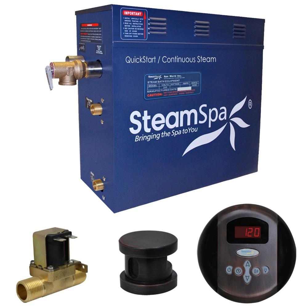 Steamspa Steam Bath Generator Package Built Auto Drain Oil Rubbed Bronze