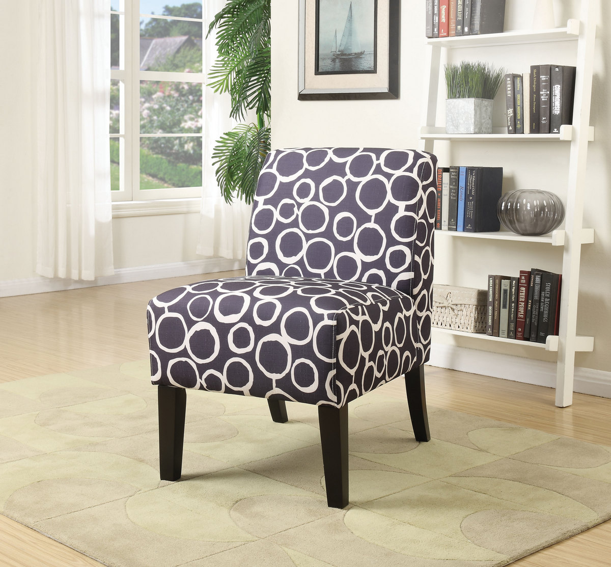 Miraculous Ollano Accent Chair In Pattern Fabric Acme Furniture 59507 Gmtry Best Dining Table And Chair Ideas Images Gmtryco