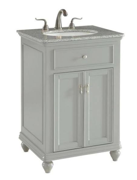 Elegant Lighting Otto Single Bathroom Vanity Set