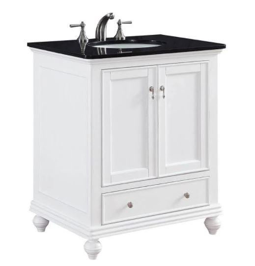 Elegant Lighting Otto Single Bathroom Vanity Set White