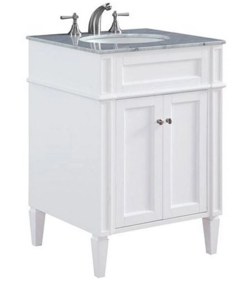 Elegant Lighting Single Bathroom Vanity Set White