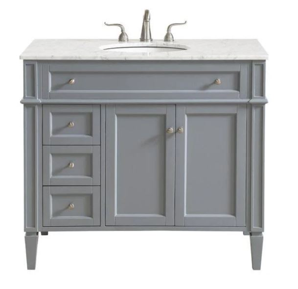 Elegant Lighting Single Bathroom Vanity Set Grey