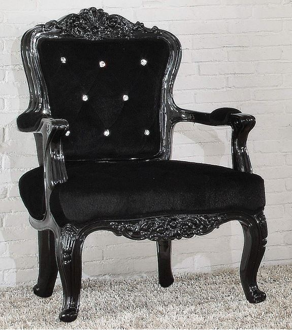 Acme Pascal Accent Chair Black Frame Pu