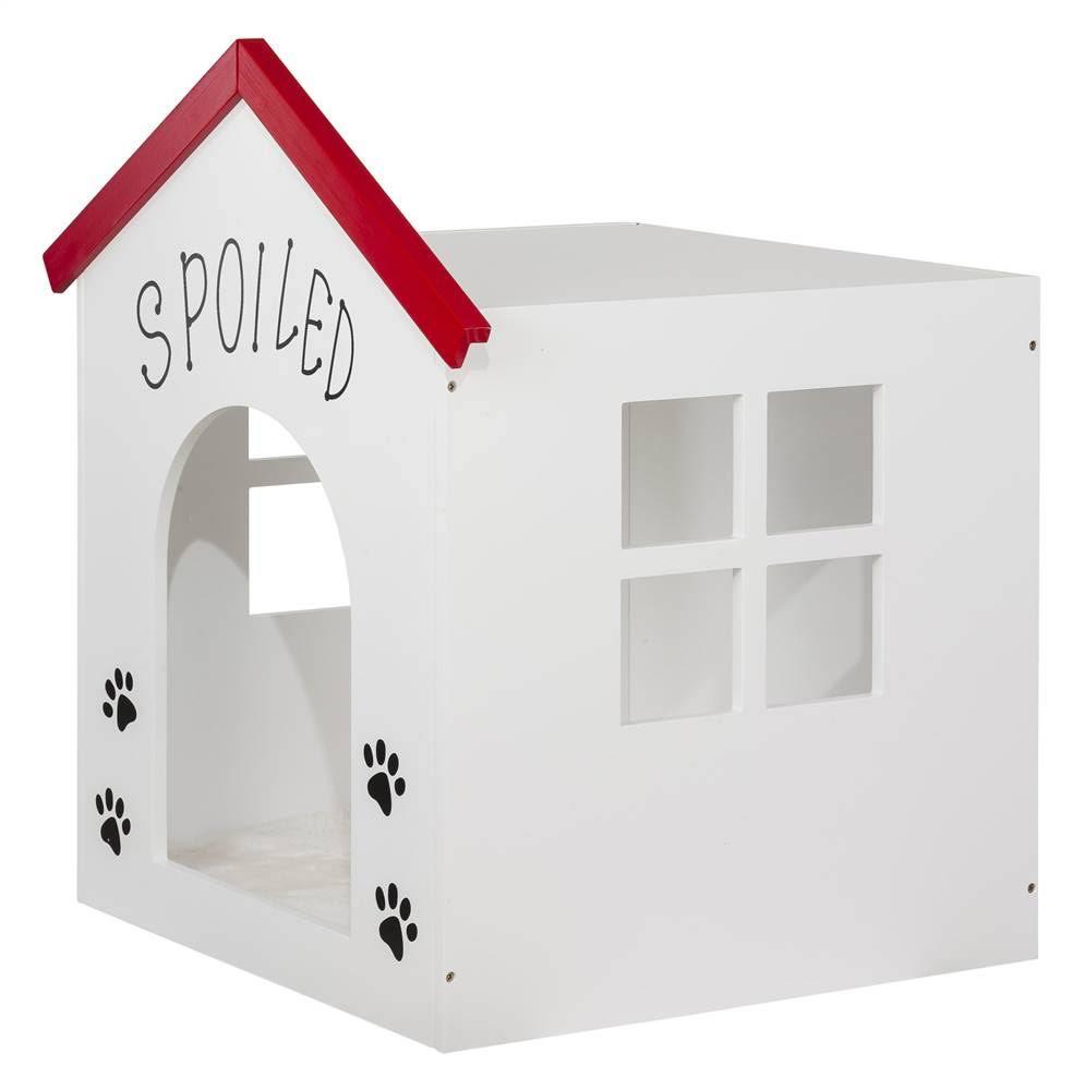 Paw designed White Pet House - Elegant Home Fashions PET-987