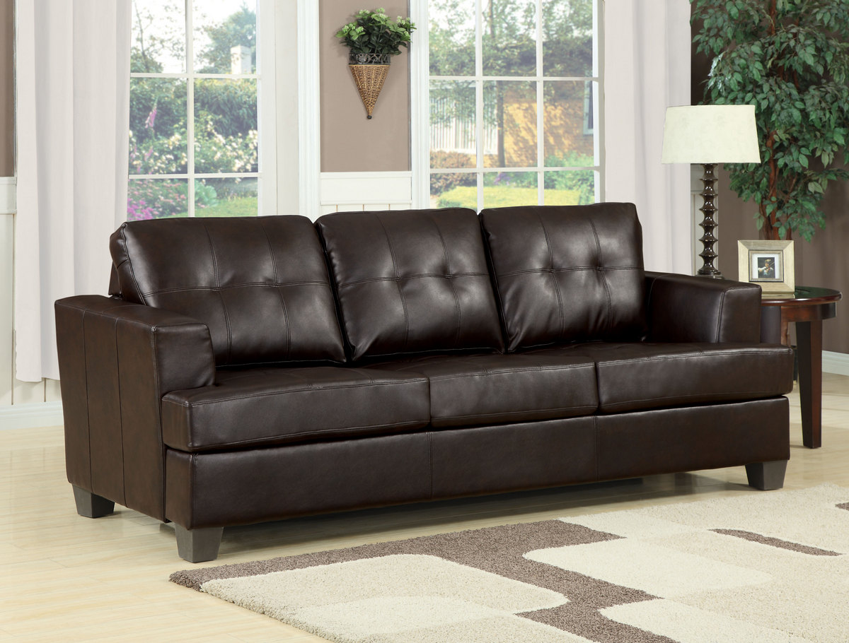 Acme Sofa Queen Sleeper Brown Bonded Leather