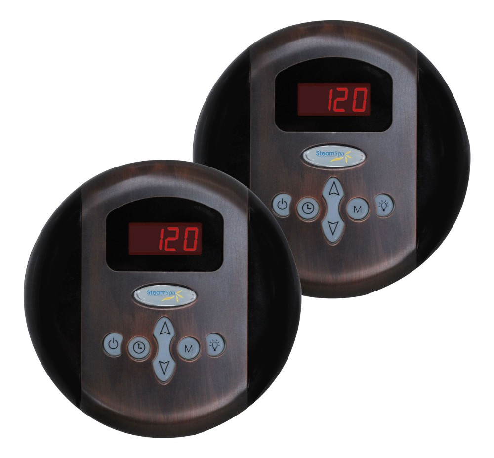 Steamspa Programmable Dual Control Panels Oil Rubbed Bronze